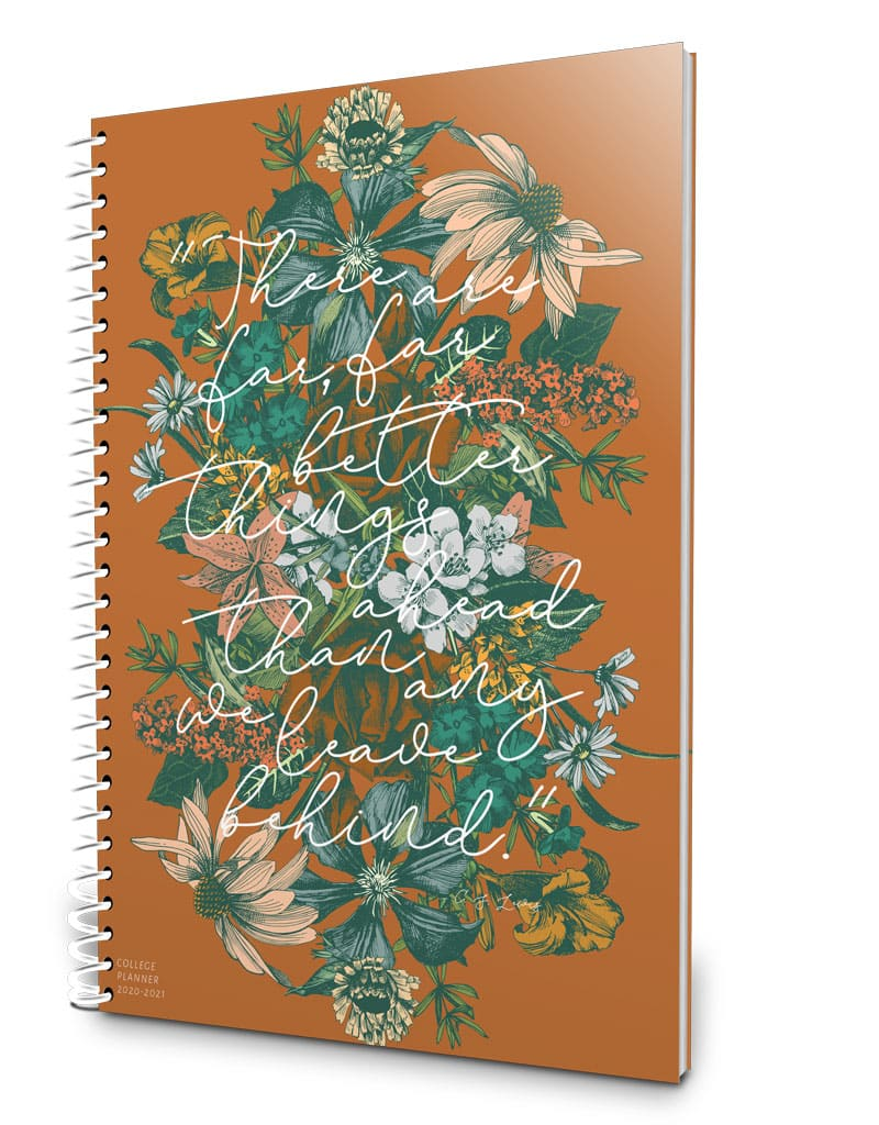 Beautiful one-year college planner 2019-2020
